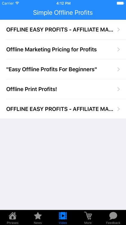 Simple Offline Profits