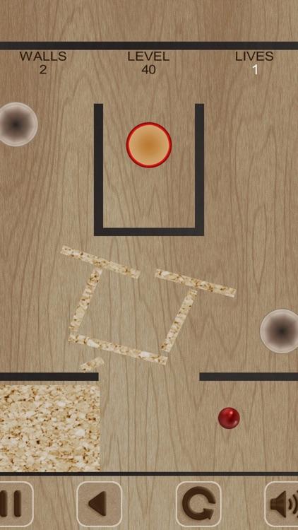 Flying Red Ball and Walls screenshot-3