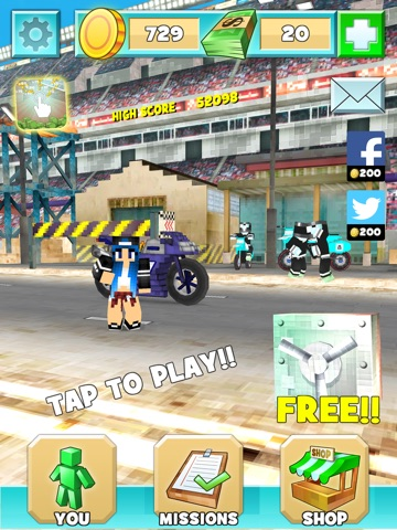 майнкрафт мотоцикл гонки игр бесплатно супер спорт мото 3д для iPad