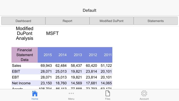 DuPont Analysis screenshot-3