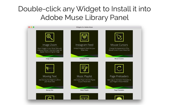 ‎Widgets for Adobe Muse