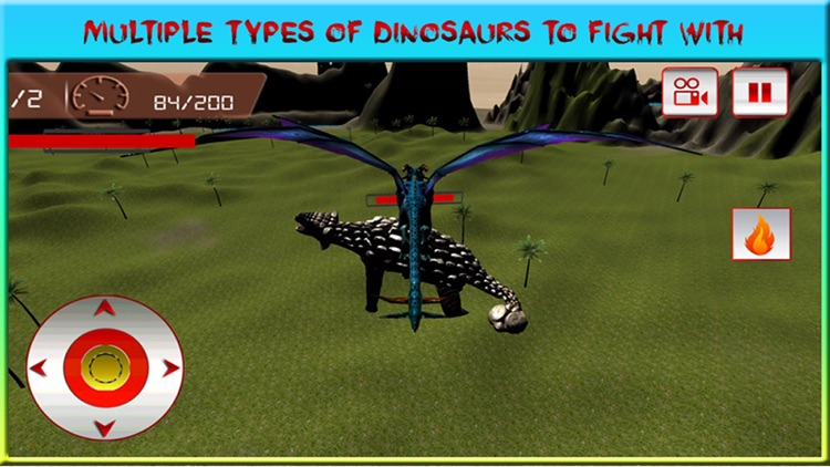 Flying Dragon Warrior Attack – Monster vs Dinosaur Fighting Simulator screenshot-3