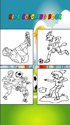 Libro para colorear de fútbol para niños en App Store