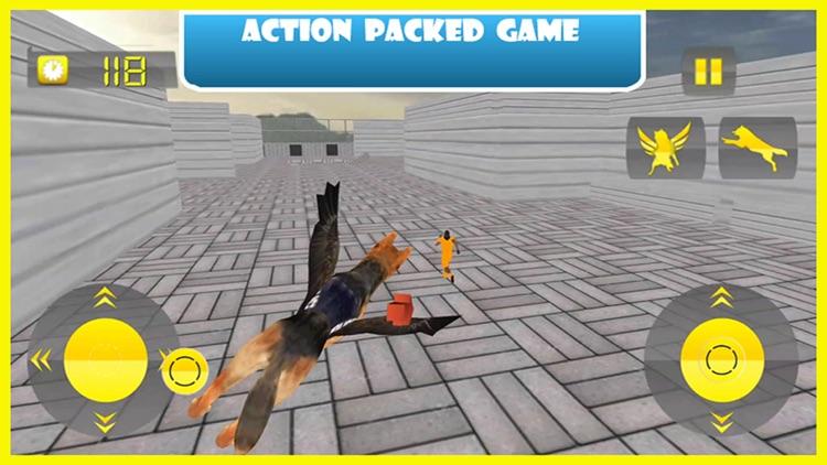 Flying Police Dog Prison Break - Prisoner Escape Jail Breakout Mission from Alcatraz
