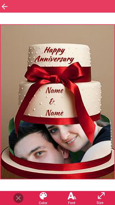 Name and Photo on Anniversary Cake screenshot four
