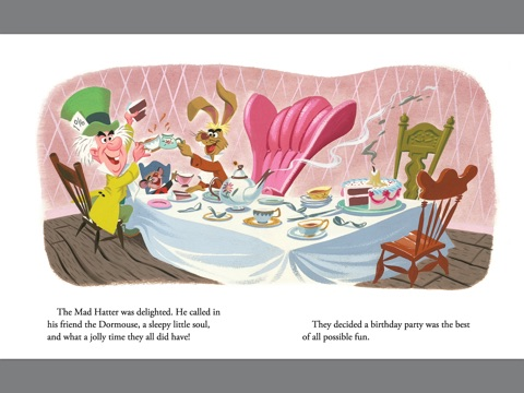 Mad Hatters Tea Party Disney Alice In Wonderland By Jane Werner