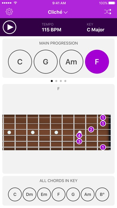 Autochords - Chord Progression Generator for guitar, keyboard and piano