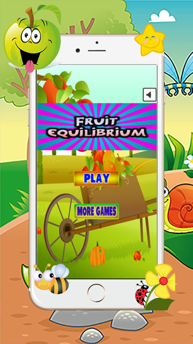 Fruit Brick Stack Equilibrium Game - The Diversion Of