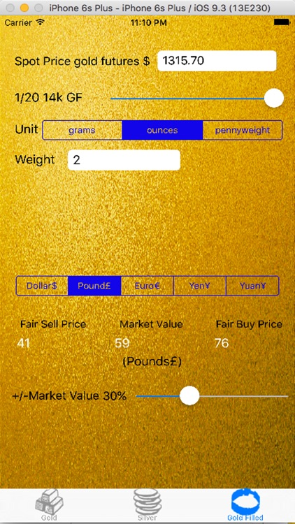 Gold and Silver Calculator