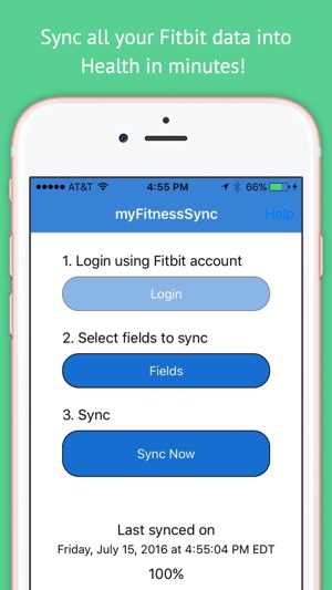 fitbit to apple health sync on the app store
