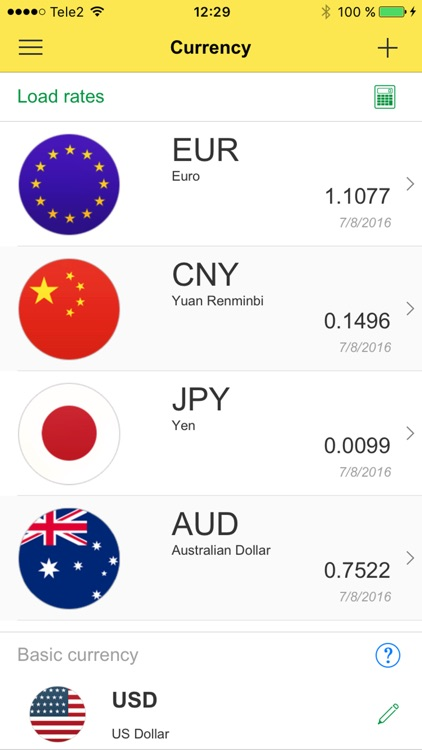 Currency: Convert Foreign Money Exchange Rates for Currencies from USD Dollar into EUR Euro screenshot-0