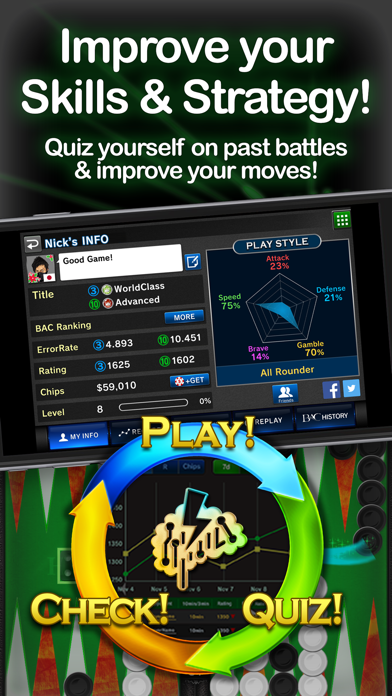 Backgammon Ace – Multiplayer Board Game & Dice screenshot two