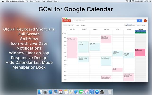 Gcal For Google Calendar On The Mac App Store