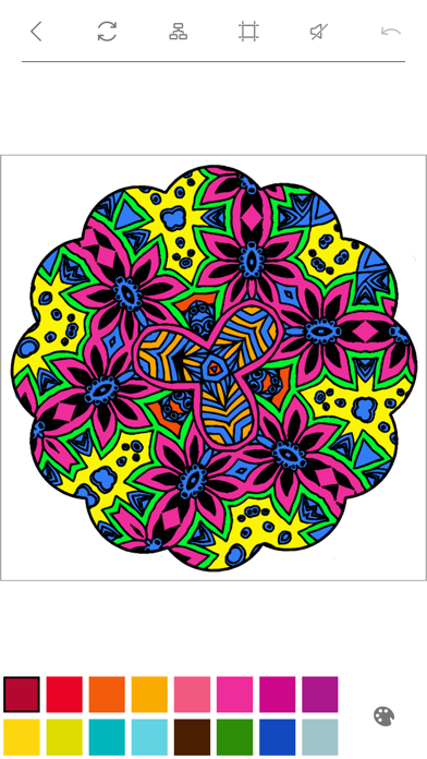 Mandalas to Color - Stress Relievers Relaxation Techniques Coloring Book for AdultsScreenshot of 3