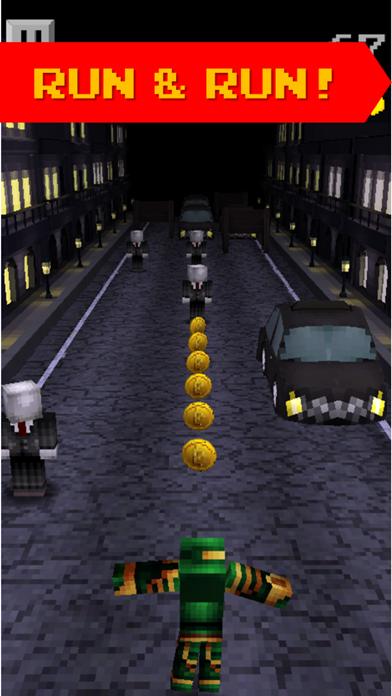 Pixel Runner - 3D Mini Run Game Slenderman edition screenshot two