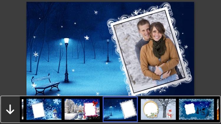 Snowfall Photo Frames - Creative Frames for your photo