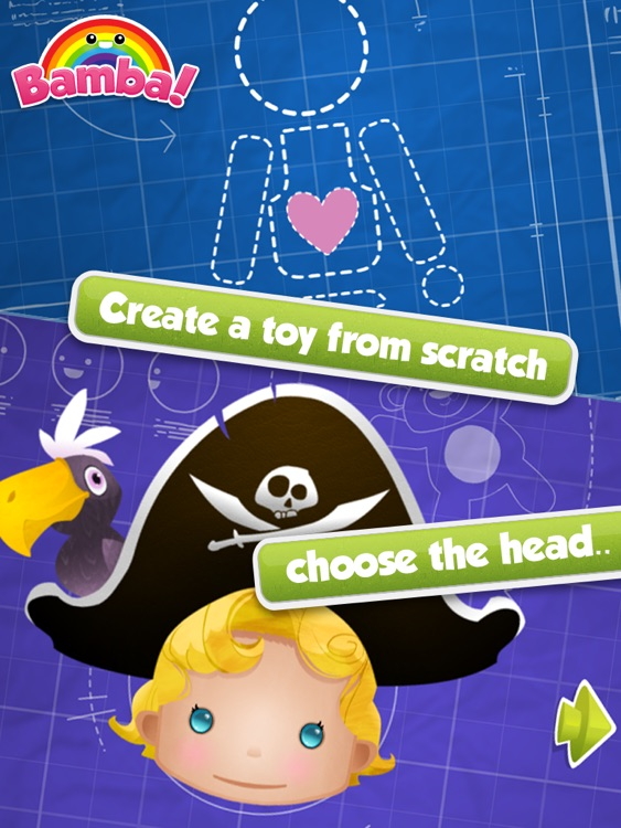 Bamba Toys (Free) - Kids make their very own action figure and dress them up