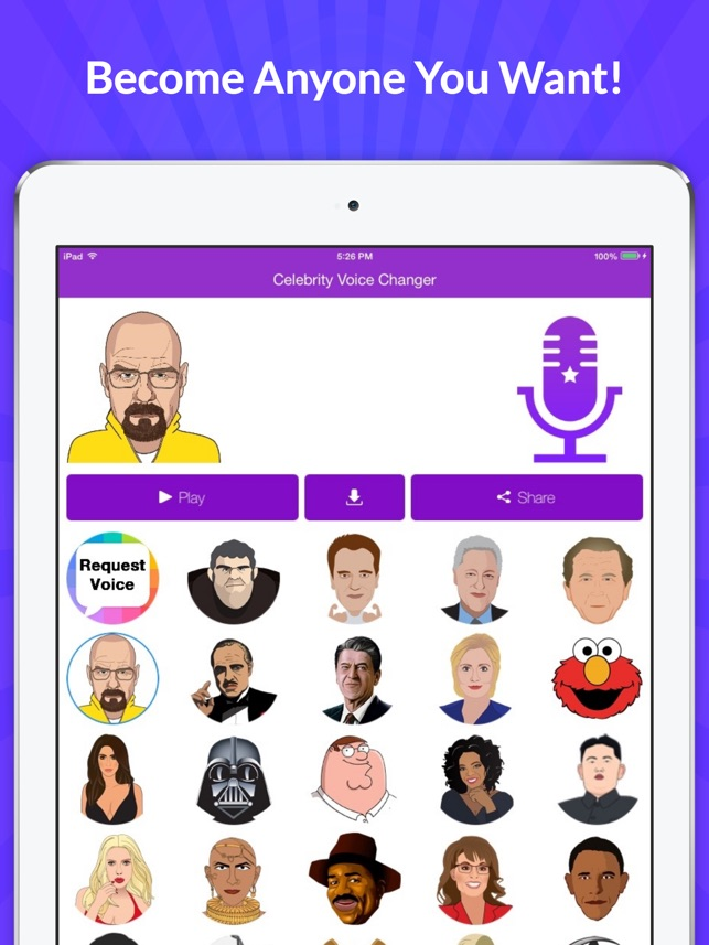 Celebrity Voice Changer Funny Voice Fx Cartoon Soundboard On The App Store
