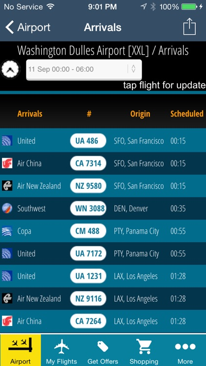 Washington Dulles Airport Pro (IAD/DCA/BWI) Flight Tracker Radar screenshot-2