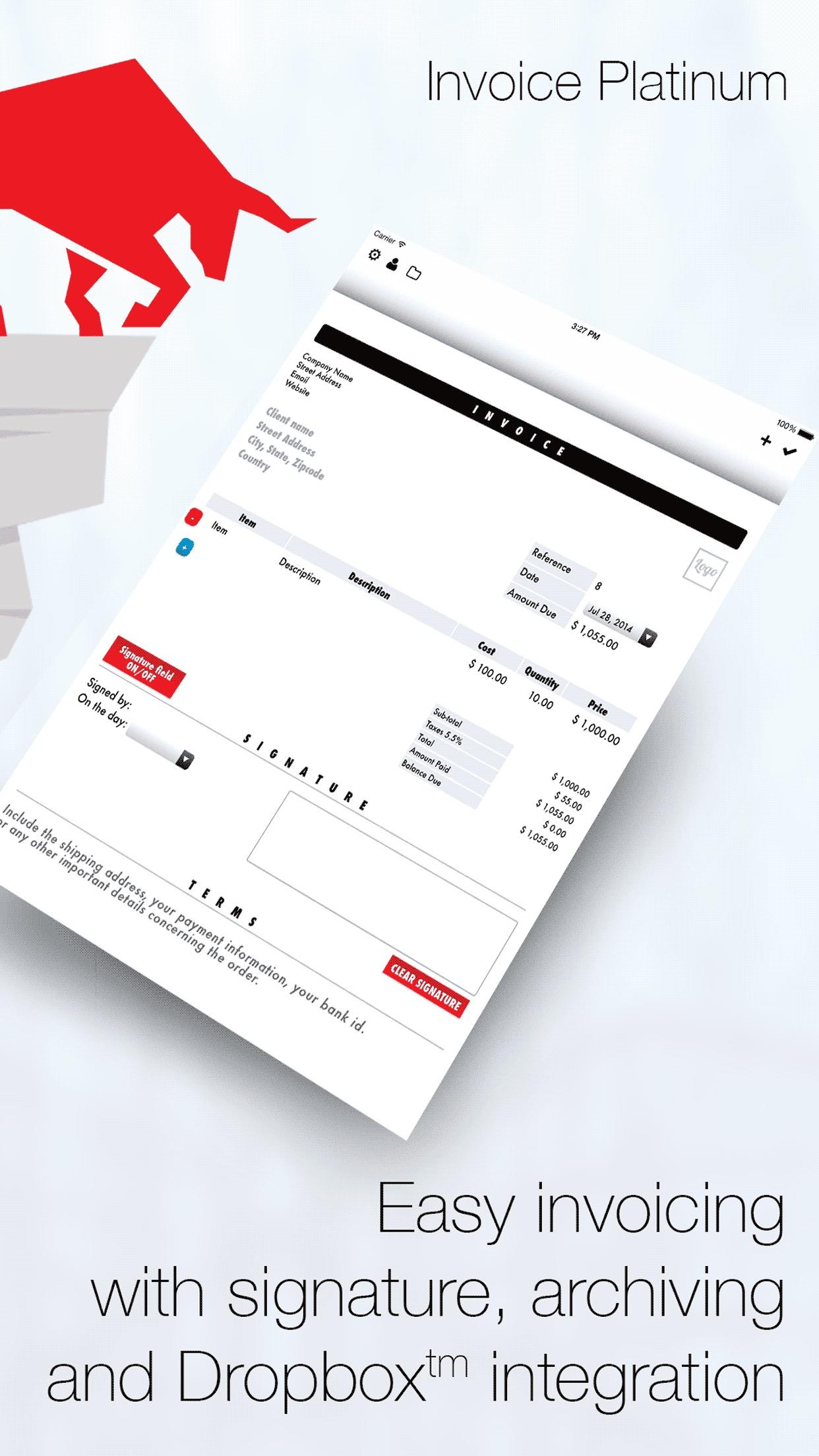 Invoice Maker Platinum: Essential PDF Invoicing & Mobile Estimates Screenshot