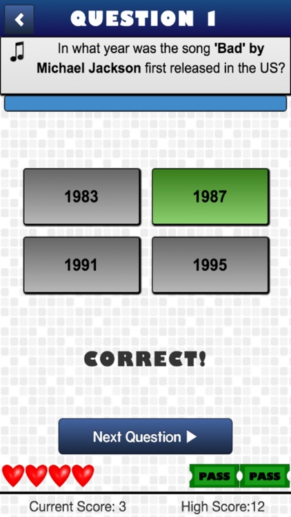 Song Quiz - Guess The Year