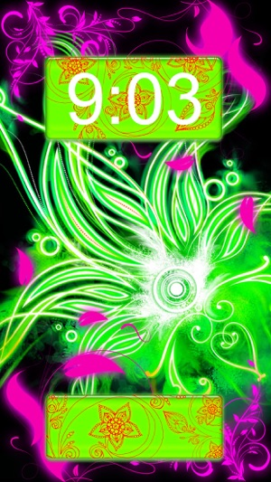 Neon Flower Wallpapers Collection Glowing Background And Custom Lock Screen Themes On The App Store