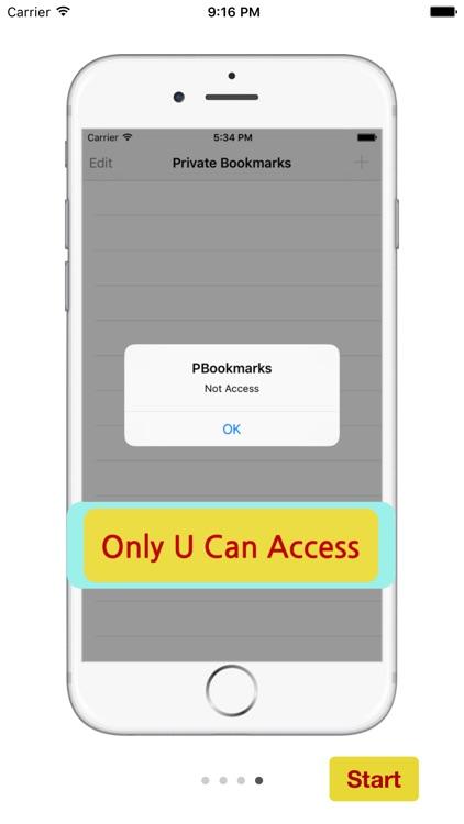 Private Bookmarks - Manage Secret Bookmarks screenshot-3
