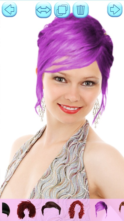 Hair Color Changing App - Try Various Shade.s & Hairstyle.s with Automatic Wig Modifier screenshot-3