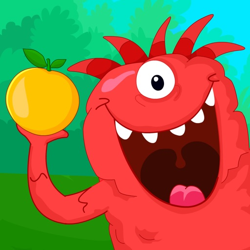 Chomping Monsters - Fruits Puzzles Games For Kids