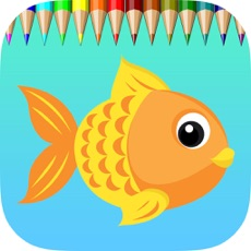 Activities of Fish Coloring Book for Children : Learn to color a dolphin, shark, whale, squid and more