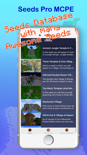 Seeds PE : Free Maps & Worlds for Minecraft Pocket Edition on the