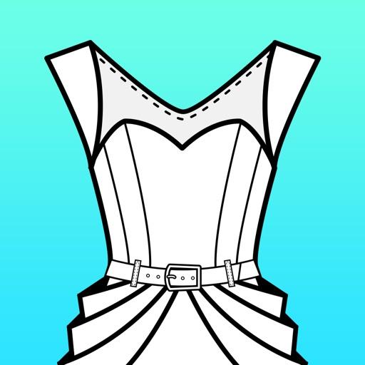 Fashion Design FlatSketch iOS App