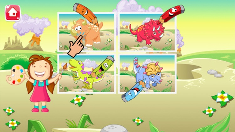 Dinosaur Coloring Book - Dino drawing and painting for kids games screenshot-3