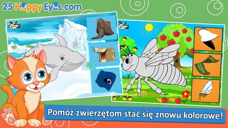 Wesołe zwierzęta - edukacyjne gry układanki,dzieci