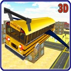 School Bus Jet 2016 - Aviation Transport Public Vol avec Extreme Parachutisme Air Stunts icon