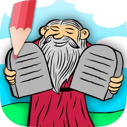 Children's Bible coloring book for kids - Paint drawings of Old and New Testaments