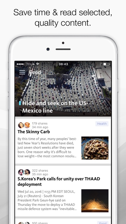 FeedNews: AI curated social news for productivity screenshot-0
