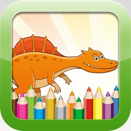 Dinosaur Coloring Book - Educational Coloring Games For kids and Toddlers Free