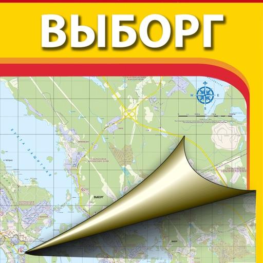 Vyborg. City map.