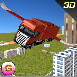 Flying Car Transporter Truck Simulator - Futuristic Transformer Truck Stunts