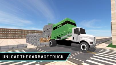 Real city garbage truck sim 3D