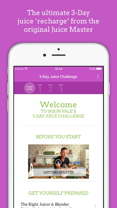 Jason Vales 3 Day Juice Challenge review screenshots