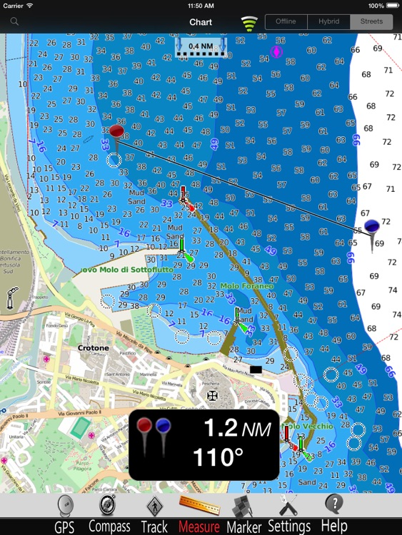 Calabria Nautical Charts Pro screenshot-3