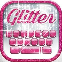 Glitter Keyboard Themes – Shiny Custom Keyboard Design with Glowing Backgrounds and new Emoji.s