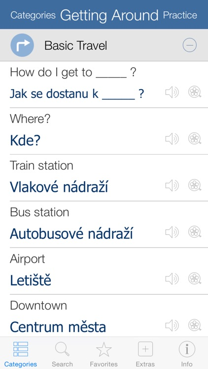 Czech Pretati - Translate, Learn and Speak Czech with Video Phrasebook screenshot-1