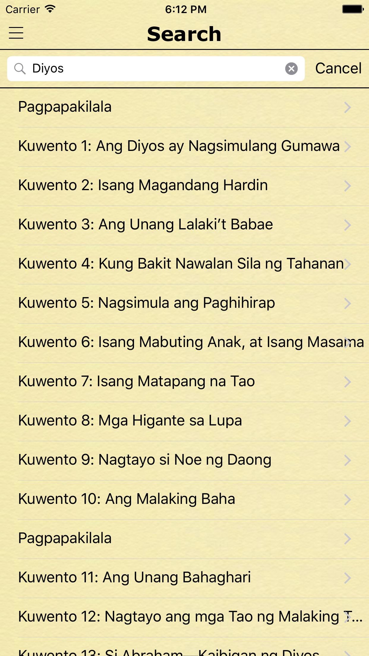 Mga Kwento ng Bibliya (Bible Stories in Tagalog) Screenshot