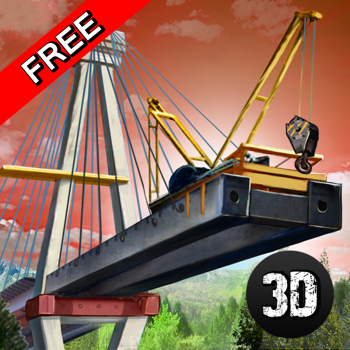 Bridge Builder - Crane Driving Simulator 3D