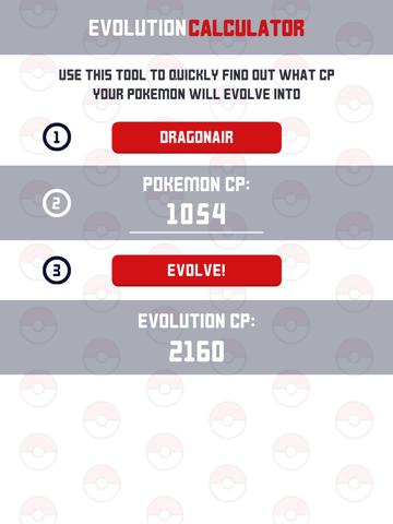 Evolution Calc for Pokémon GO - náhled