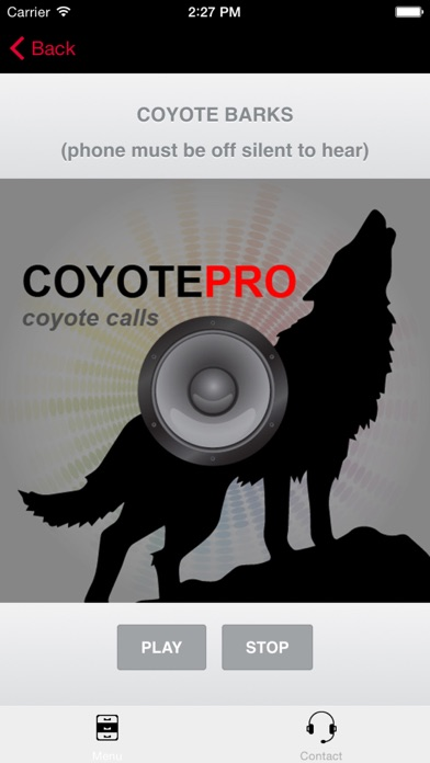 Screenshot for REAL Coyote Hunting Calls - Coyote Calls and Coyote Sounds for Hunting (ad free) BLUETOOTH COMPATIBLE in United States App Store