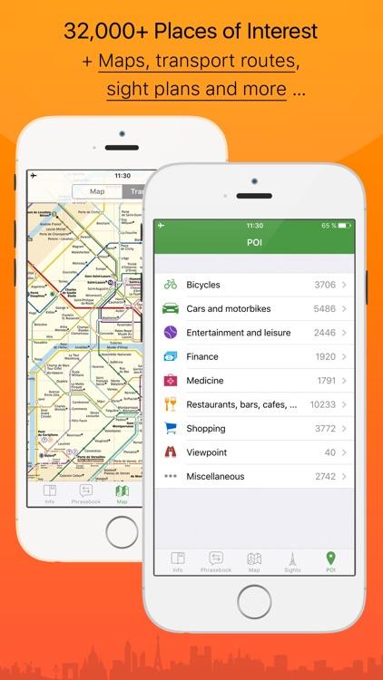 Paris – advanced tourist guide & offline map – Tournavigator screenshot-3